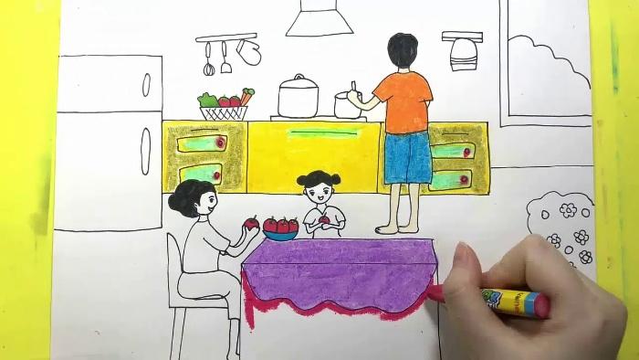 Mơ thấy người lạ đang vẽ tranh về gia đình mình